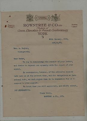 York  Confectionery  Makers  Letter.