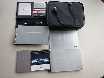 2009 Infiniti G37 Convertible Owners manuals, case, and Apple connector