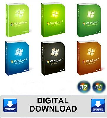 WINDOWS 7 32 64 INSTALL ALL VERSIONS HOME PROFESSIONAL ULTIMATE ISO (Download)