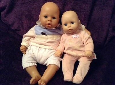 Zapf Creation Baby Annabell Dolls x 2, Version 2 & Smaller Doll. Interactive.