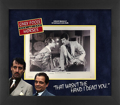 David Jason and John Challis signed 'That wasn't the hand I dealt you' Only Fool