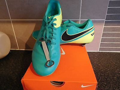 Nike Mens Tiempo Genio Ii Leather Sg Jade Footie Boots+Spanner Bnib Uk 10