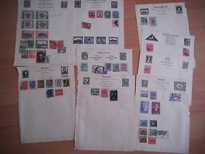 Collection LOT - OLD ALBUM PAGES - World stamps - unchecked - see all photos