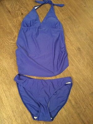 New BNWT Mother are Blooming Marvellous Blue Swimming Costume Maternity Size 12