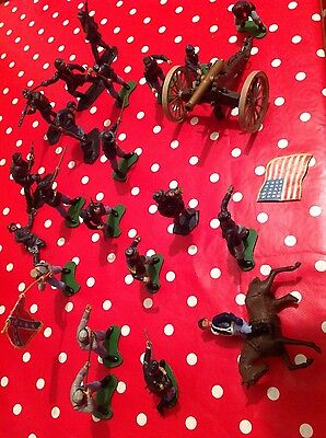 britains civil war toy soldiers usa assorted and canon.