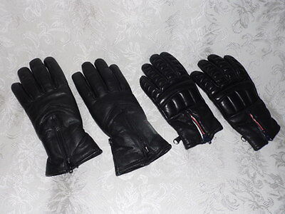 Pair Of Used Men's & Women's Leather Gloves, Both Insulated
