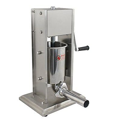 Zeny 5L Vertical Commercial Sausage Stuffer 11LB Two Speed Stainless Steel Meat