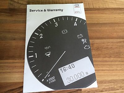 GENUINE Toyota Service Book*Blank & Brand New* Yaris Aygo Auris Corolla Avensis