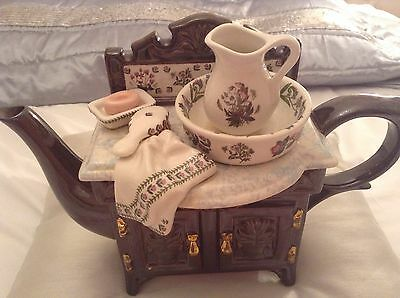 Portmeirion Collectable Novelty Large Vanity Washbasin Teapot Perfect Condition