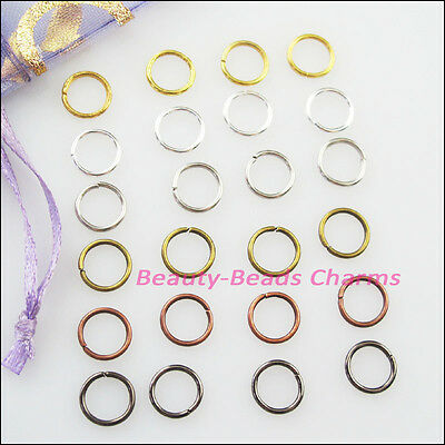 300Pcs Jump Ring Open Connectors Gold Dull Silver Bronze Copper Black Plated 7mm