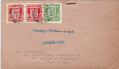 GUERNSEY ww 2 UNDER GERMAN OCCUPATION GUERNSEY ARMS COVER - USED TWICE