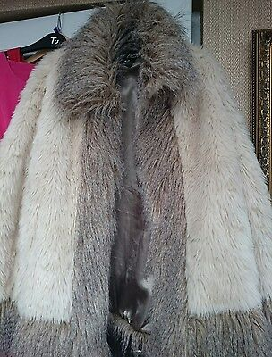 Absolutely stunning designer faux fur cape