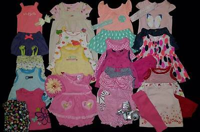 30 pc. Baby Girls 0/3 Mos. Spring & Summer Clothes Outfits Shoe Lot Free Ship!