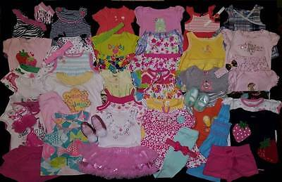 50 pc. Baby Girl Newborn 0/3 3/6 Mos. Spring & Summer Clothes Outfits Shoes Lot