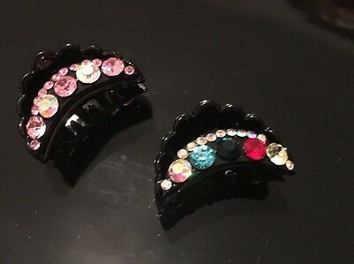2x Hair Claw Pin Clips Job Lot Clearance Uk Seller Sparkly Medium 1