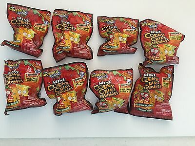 Lot of 8 The Grossery Gang Mini Corny Chips + Milk Crate Blind Bags