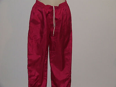 """Vintage-80's track-suit bottoms-Neon-Hot-Pink-Shell """"Tail"""" Unisex Retro Super"""