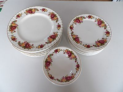 Royal Albert Old Country Roses patterned plates & bowls