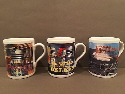 3 x Dr Who And The Daleks Mugs