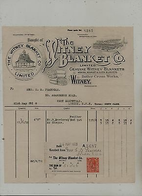 Illustrated  Witney  Blanket  Manufacturers  Invoice.
