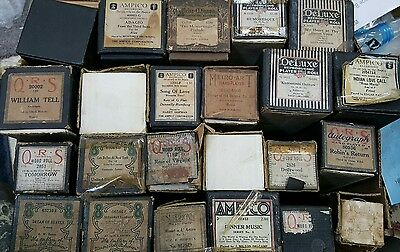 Lot Of 23 Player Piano Word Roll Qrs Imperial Vocal Style Recordo