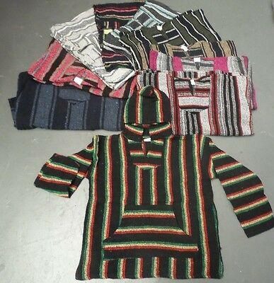 Wholesale Lot 10 pieces Assorted Baja Jacket Hoodie,Poncho,Drug Rug,Choose size