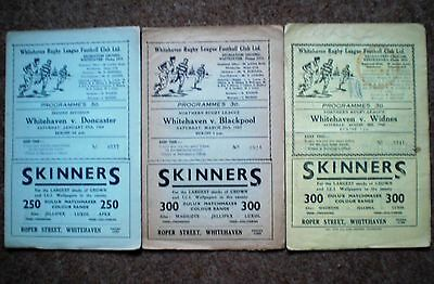 WHITEHAVEN v DONCASTER BLACKPOOL WIDNES 1960s RUGBY LEAGUE PROGRAMME COLLECTION