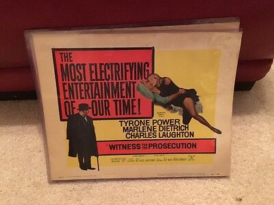 Witness For The Prosecution Movie TITLE LOBBY CARD size 11x14 Tyrone Power 1957