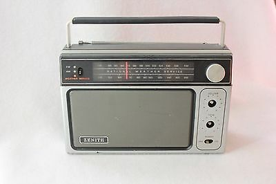 Zenith Radio R80 Vintage AM FM Weather Service for parts UNTESTED Movie Prop Old