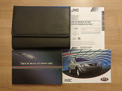 Kia Sedona/Carnival Owners Handbook/Manual and Wallet 00-06