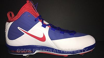 Nike Air Max Mvp Elite 2 3/4 Metal Baseball Cleats Red White Blue Men Sz 11 Cubs