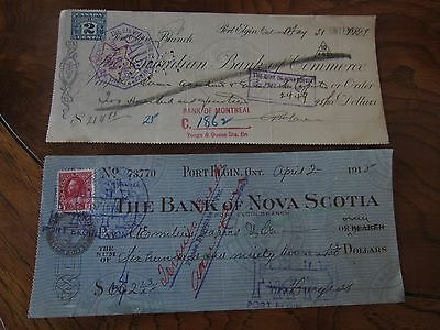 Canada Old cheques - 6 different - Lot #3