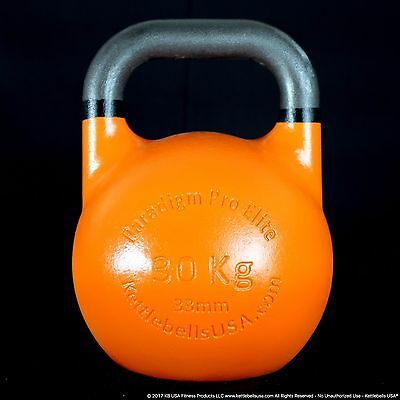 30 kg-66 lb Paradigm Pro ELITE 33mm Handle Competition Kettlebell *FREE SHIPPING