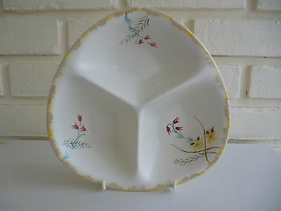 Radford Serving Dish 3 Section Curved Triangular Shape Vintage Tableware