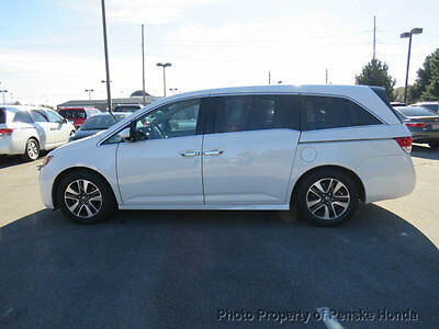 2015 Honda Odyssey 5dr Touring 5dr Touring 4 dr Van Automatic Gasoline V6 Cyl WHITE