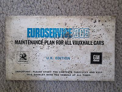 Vauxhall Euroservice 365 maintenance plan booklet dated March 1972.