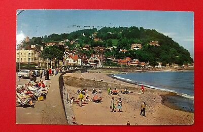 Gb 1965 Somerset Promenade And Beach  Used Postcard From Collection