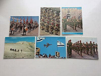 Israeli Army Postcards 1950/60s Mig 21 Girl Soldiers Parachutist Golden Heights