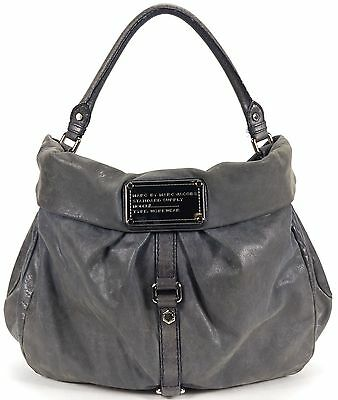 MARC BY MARC JACOBS Authentic Gray Leather Hobo Shoulder Bag