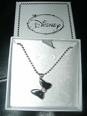 Disney Minnie Mouse Bow Necklace Colour Boxed  New