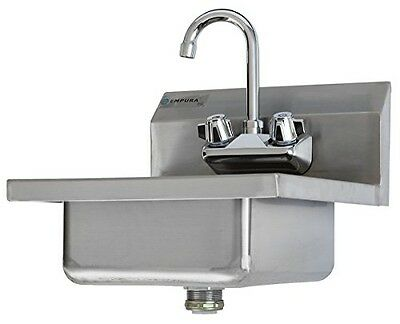 Empura Commercial Stainless Steel Wall Mount Hand Washing Sink w/ Faucet
