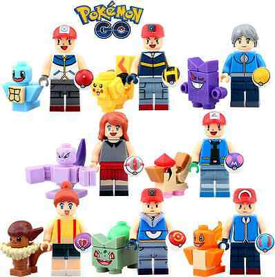 2016 NEW Lot of 8 Pokemon minifigures Fits lEgO Building toys for gift