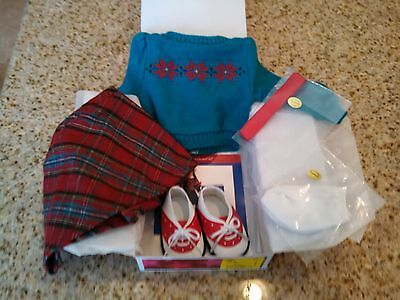 American Girl MOLLYS SWEATER AND SKIRT- NEW IN BOX