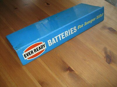 Vintage Every Ready battery shop display stand shelf sign 1960 / 1970