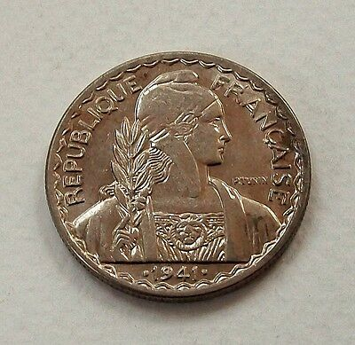 French Indo-China 1941 S 20 Centimes Coin - Uncirculated @ No Reserve!