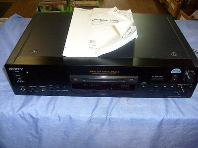 RARE SONY MDS-JB940  MINIDISC DECK RECORDER PLAYER w/ owners Manual