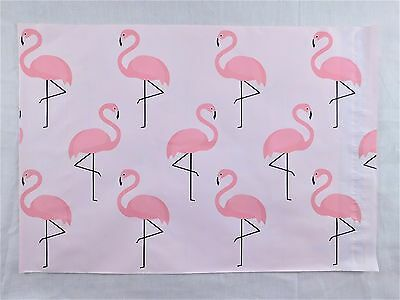 25 Pink Flamingo 10x13 Designer Poly Mailers Shipping Envelope Boutique Bags