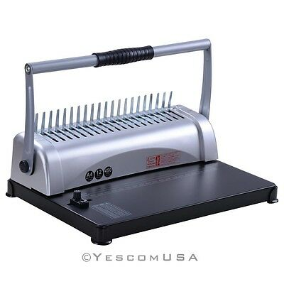 21-Hole 450 Sheet Comb Binding Machine Paper Punch Binder Scrapbook Puncher