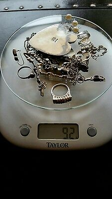 Signed Sterling Silver Jewelry Lot#7 92Grams
