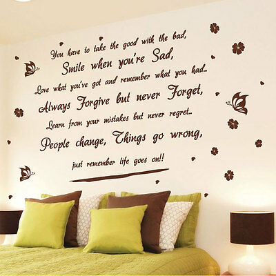 Life goes on Wall Art Quotes Wall Stickers Wall Decals Wall Mural---Size 3 213